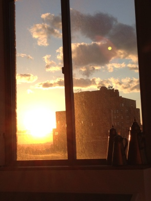 Sunset from the apt