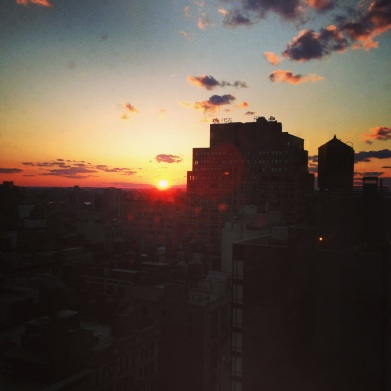 NYC sunset from the apt