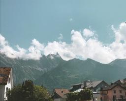 The Glacier Express from Chur to Zermatt in Switzerland